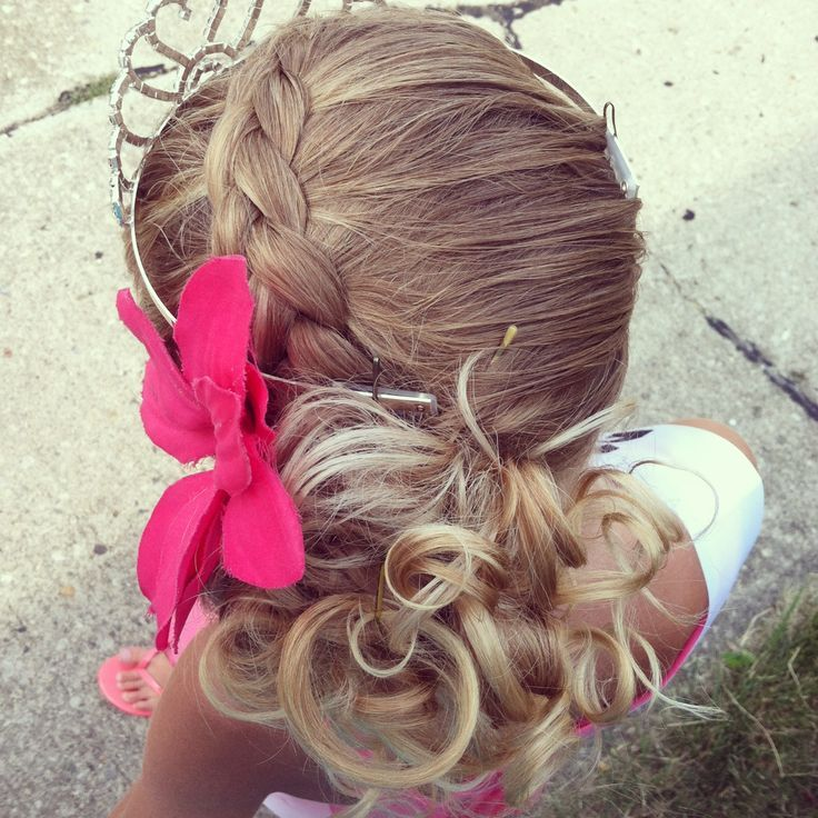 simple updo for your little girl! for pageants.   school hair