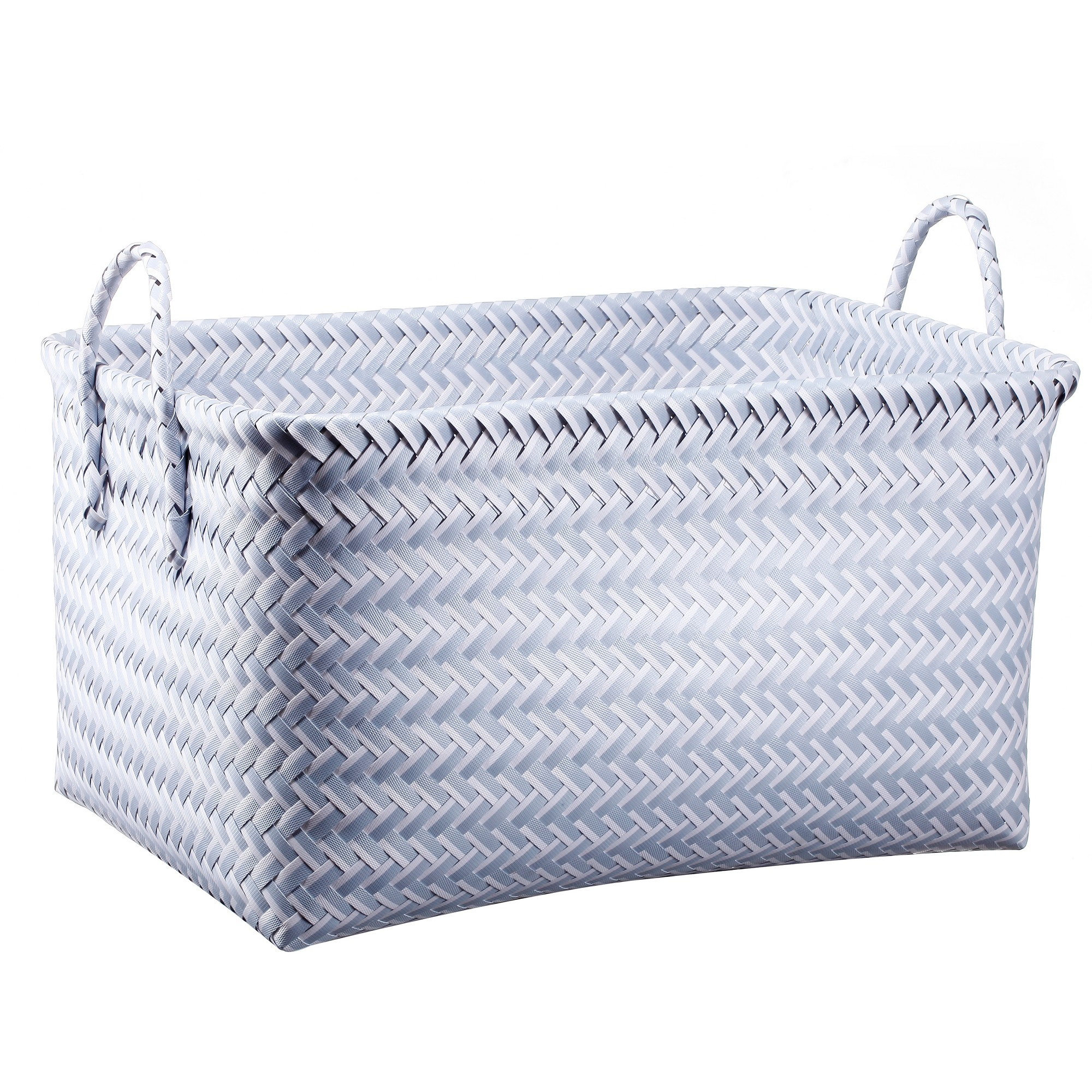 Large Woven Rectangular Storage Basket Blue Room Essentials White Baskets Gift
