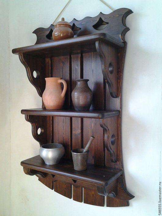 Мебель ручной работы. Ярмарка Мастеров - ручная работа. Купить Полка трёхъярусная. Handmade. Полка деревянная, садовая мебель