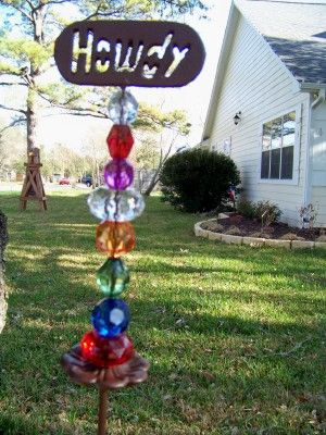 Superieur Spirit Stake With A Howdy Top  Texas Patio Decor