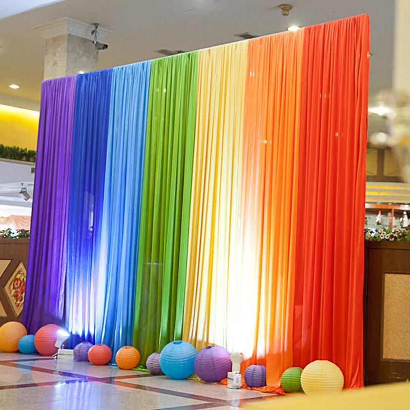 Compare prices on rainbow weddings online shoppingbuy low price cheap draperies patterns buy quality drapery fringe directly from china decor drapery suppliers ice silk rainbow wedding backdrop colourful wedding junglespirit Gallery