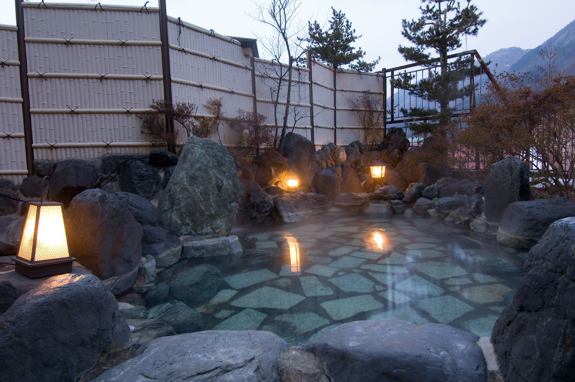 Outdoor Japanese Bath. This is a little too large and ...