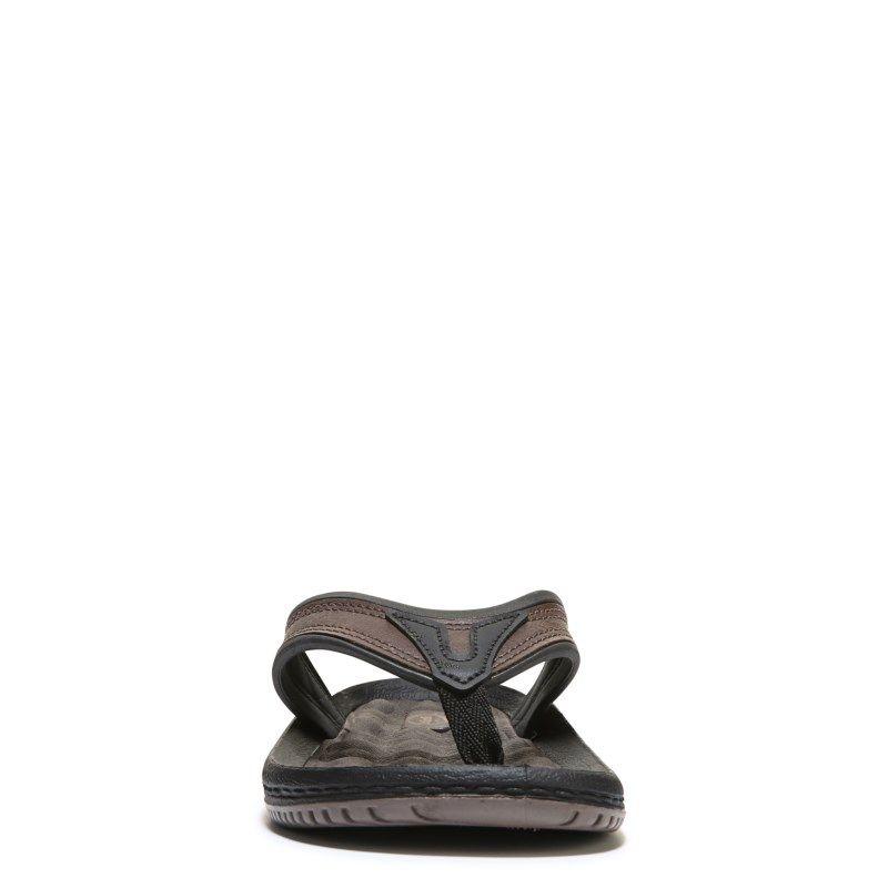 a391d74846a9 Dr. Scholl s Men s Donnar Thong Sandals (Dark Brown) - 14.0 M