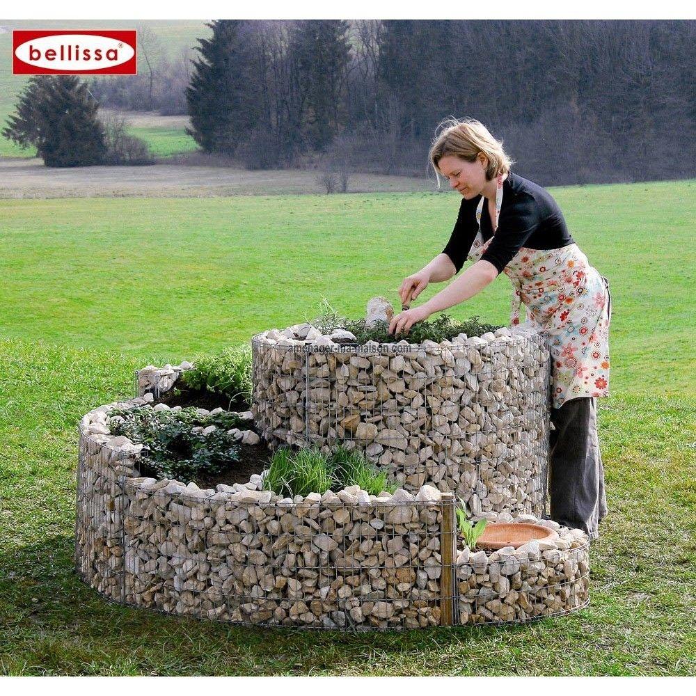 Jardini re spirale xxl en gabion garden jardins terrasse jardin maison - Jardiniere xxl ...