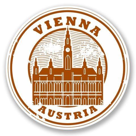 2 X Vienna Austria Vinyl Sticker 4228 In 2019 Travel