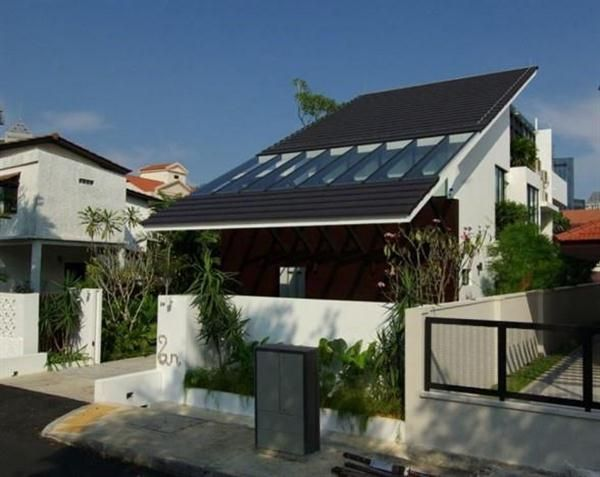 Modern Large Slant Roof Design Singapore