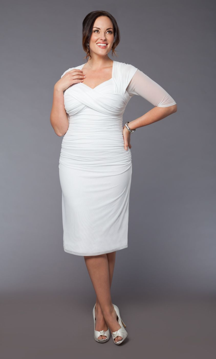 Plus Size Raquel Ruched Wedding Dress by Kiyonna. Perfectly ...