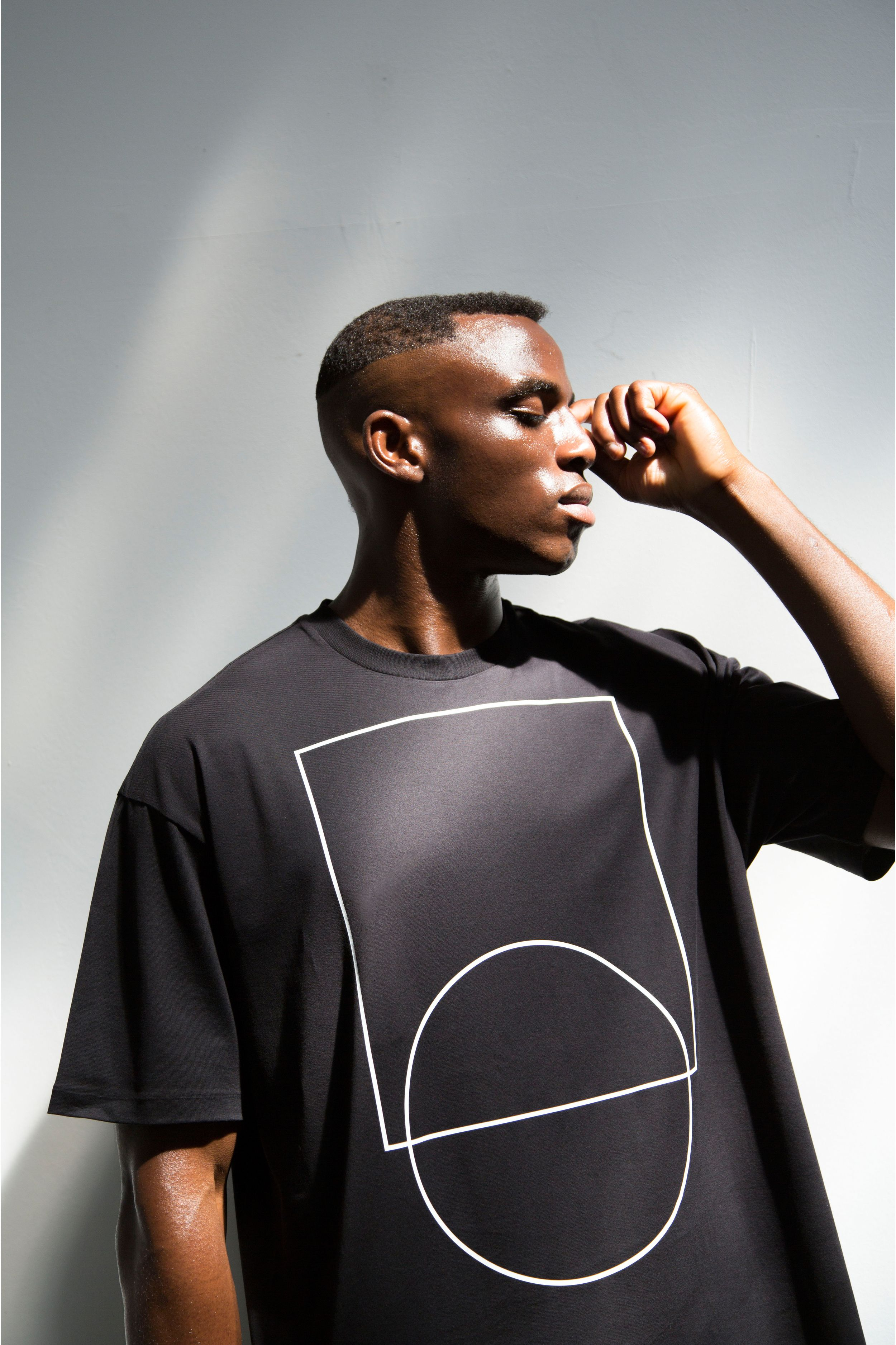 IN THE ZONE oversized Tshirt Black cottonjersey Crew