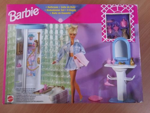 Barbie-Bathroom-Sala-da-Bagno-Salle-de-Bain-Mattel-67336-RARO-NEW ...