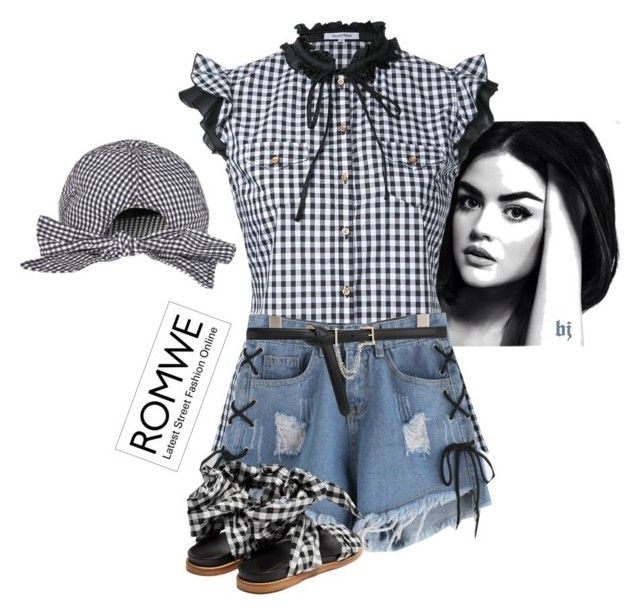 """""""Romwe--Shorts Style (Win $35 Coupon)"""" by jacksondobe ❤ liked on Polyvore featuring Guild Prime, Marques'Almeida, CHARLES & KEITH and Topshop"""