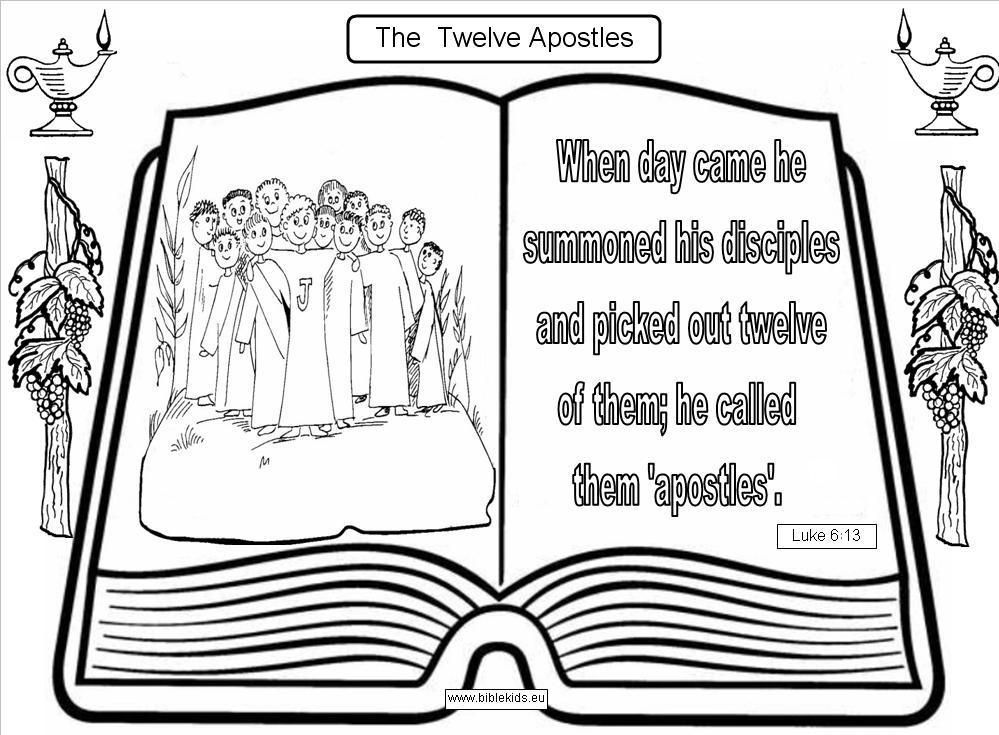 12 apostles names - Google Search faith Pinterest - copy coloring pages wwe belts
