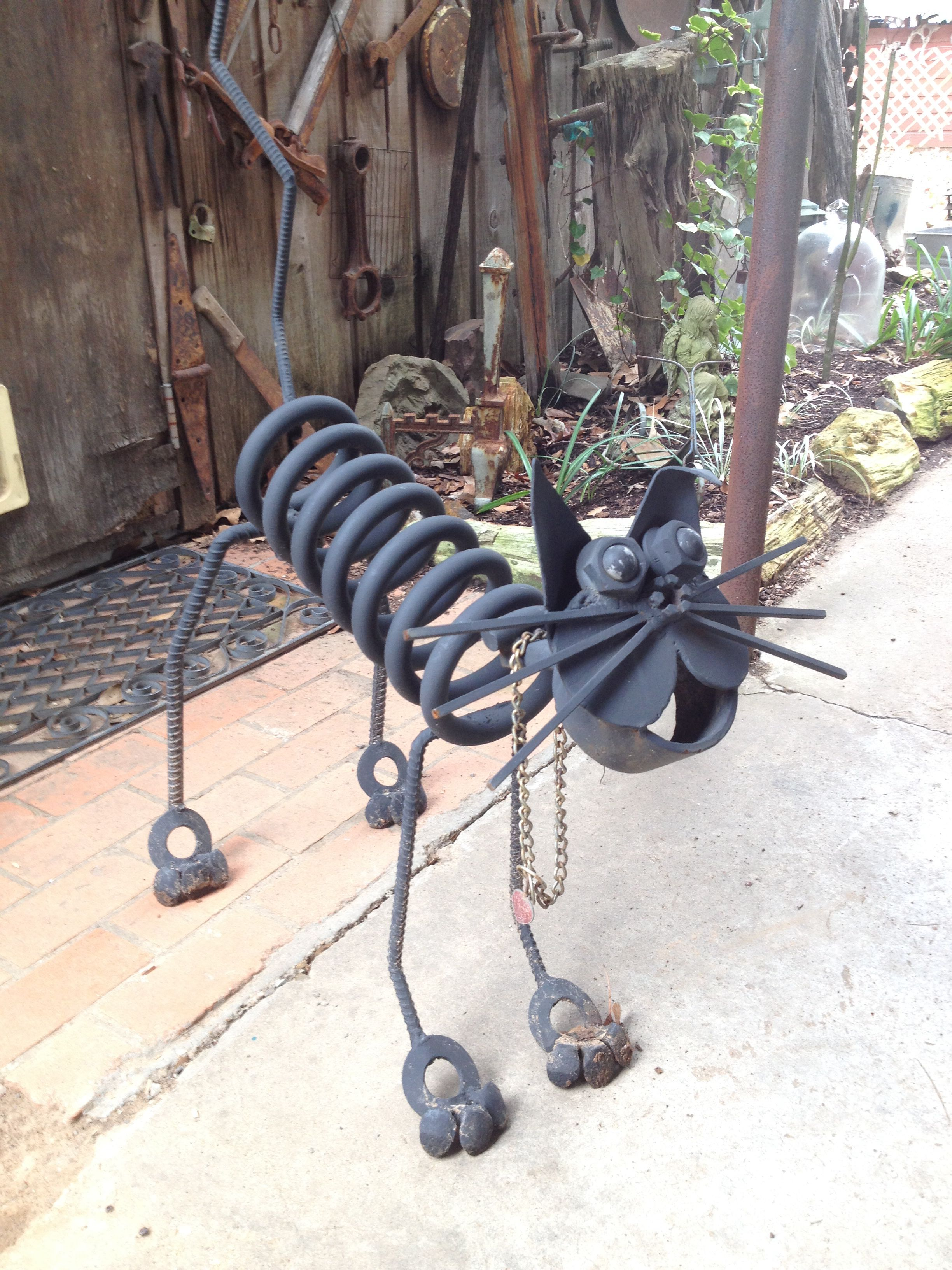 Astuces Bricolage Recup Welded Metal Cat I Made This Crook Cat Made Of Car Parts