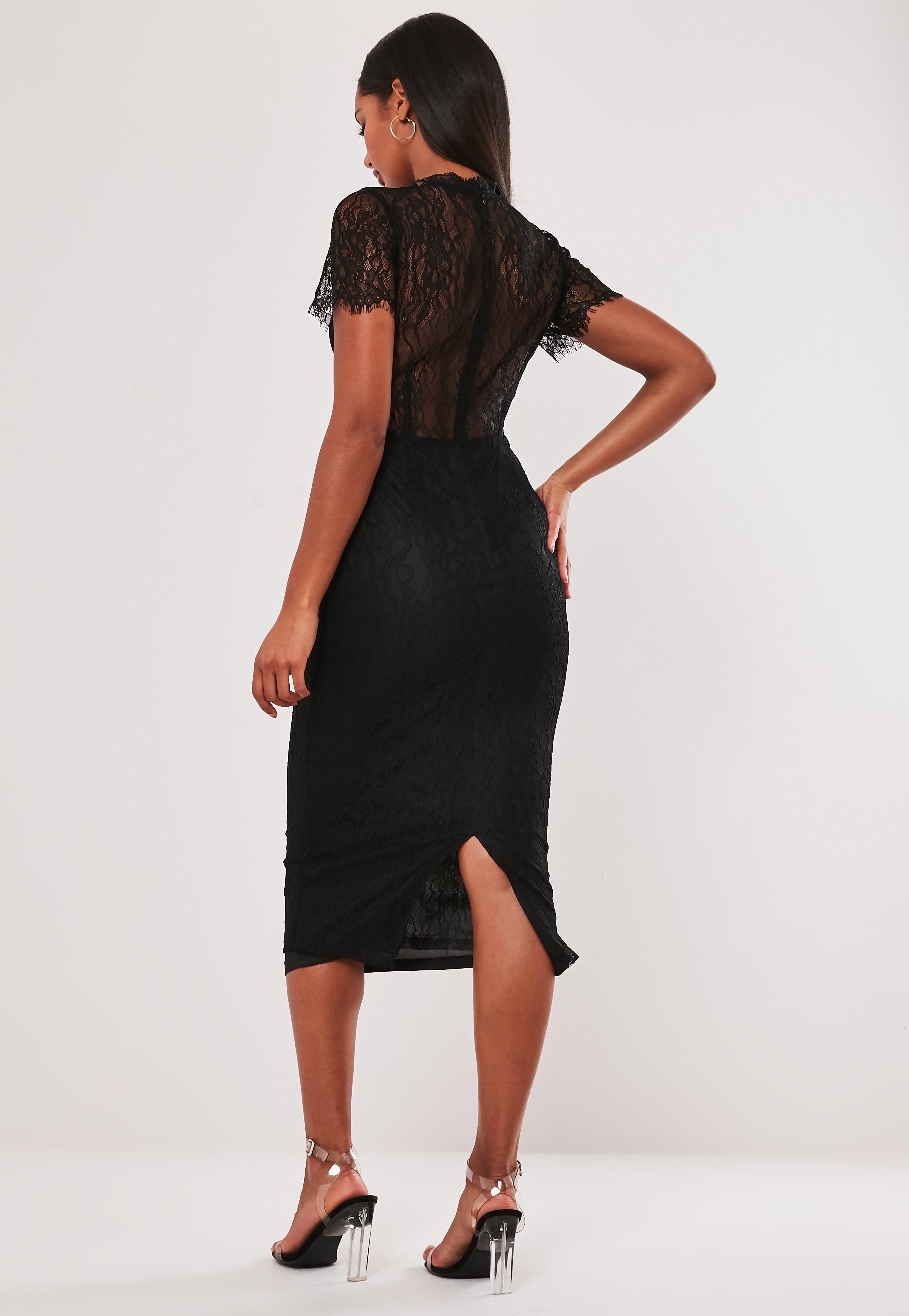 Black Lace Cupped Bodycon Midi Dress Sponsored Cupped Sponsored Lace Black Midi Dress Bodycon Midi Dress Dresses [ 4200 x 2900 Pixel ]