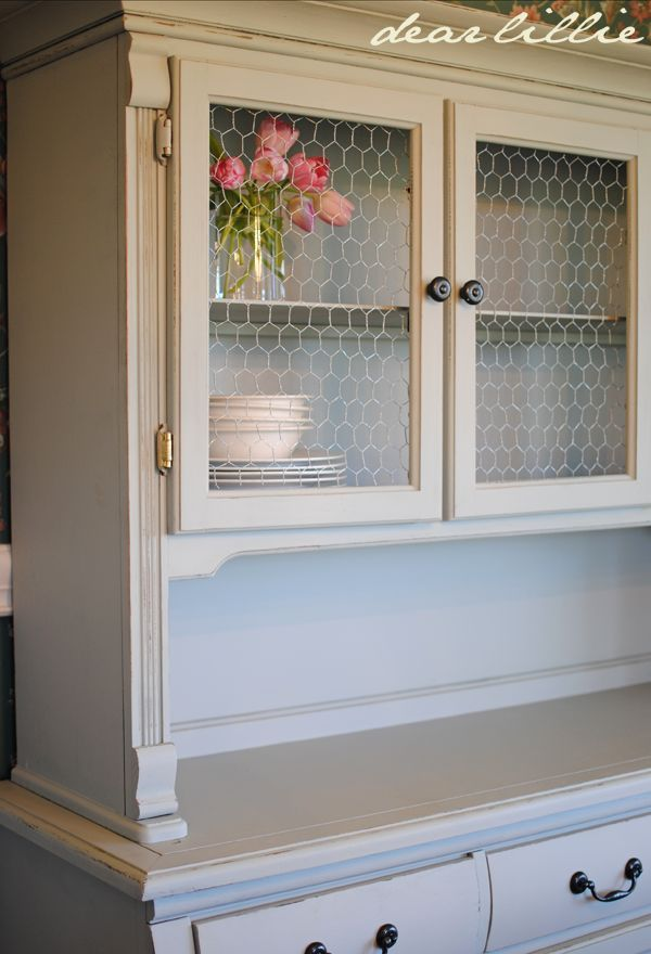 COLOR DIY Dated Hutch Makeover