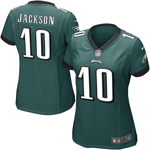 women nike philadelphia eagles 10 desean jackson game light white color nfl jersey
