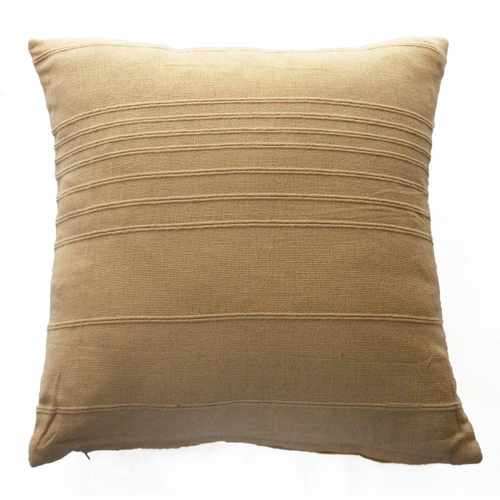 Bamboo Design Cushion Cover - Cream (40cm x 40cm)