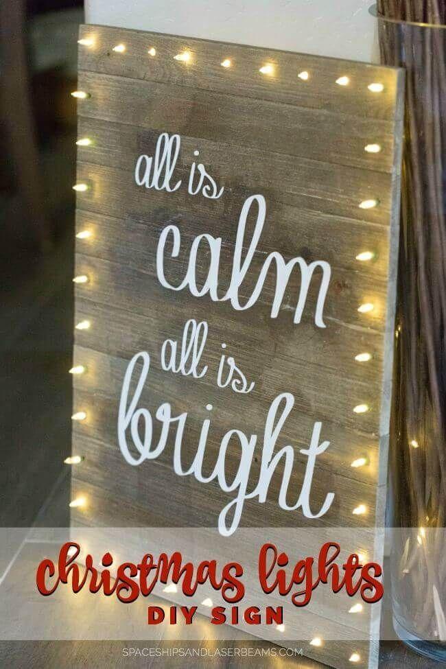 Christmas Lights DIY Board Sign Christmas Lights