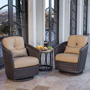 shelter 3 piece motion club chair set deck outdoor furniture rh pinterest com