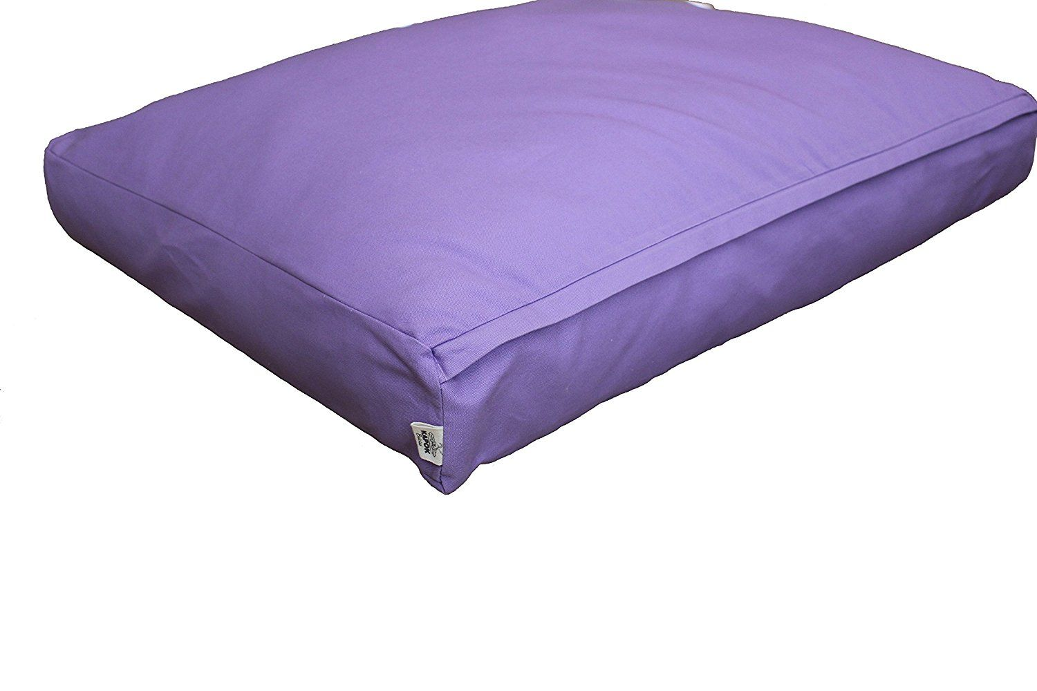 organic dog bed large color solid lilac pet bed for more