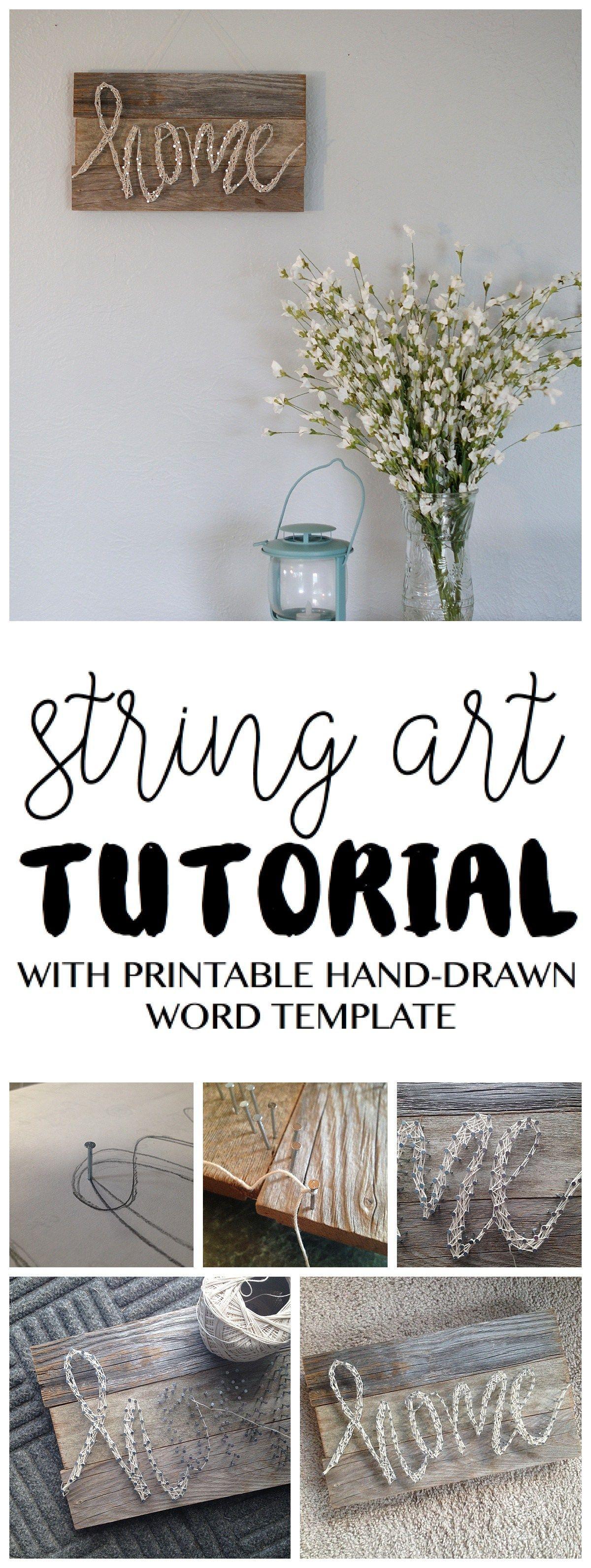 string art tutorial DIY home decor pallet
