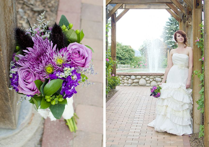 Diy Purple Wedding Bouquet Made From Whole Foods Flowers Rayna Mcginnis Photography A Colorado
