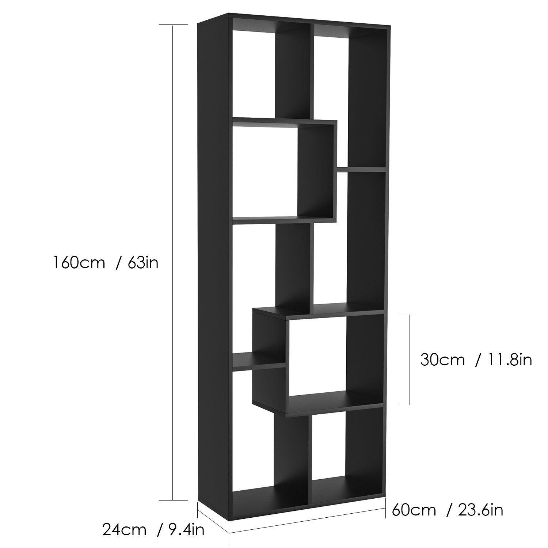 Homfa Bookshelf Freestanding 8 Cube Decorative Diy Display Storage