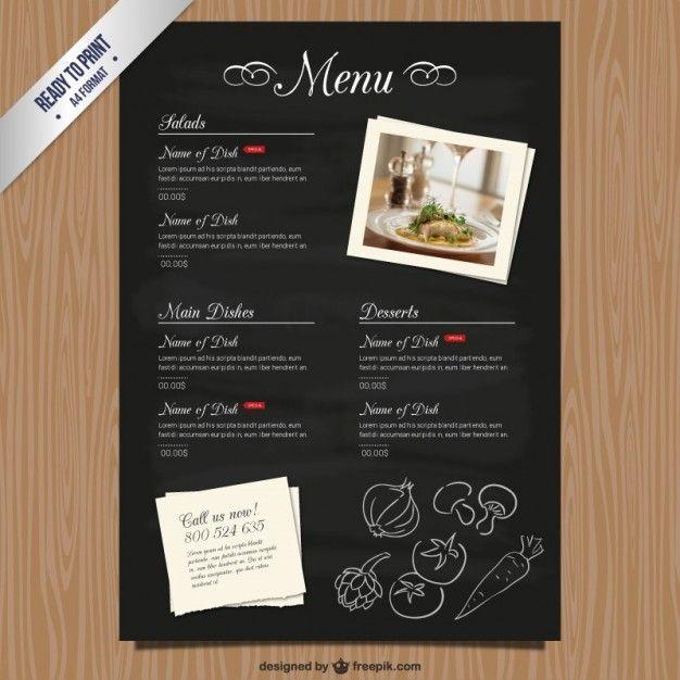 cmyk restaurant menu template free vector