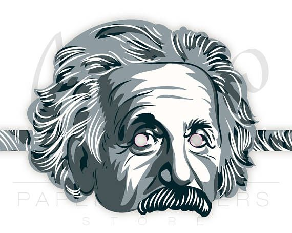Einstein mask PRINTABLE pattern. Einstein costume. Science party ...
