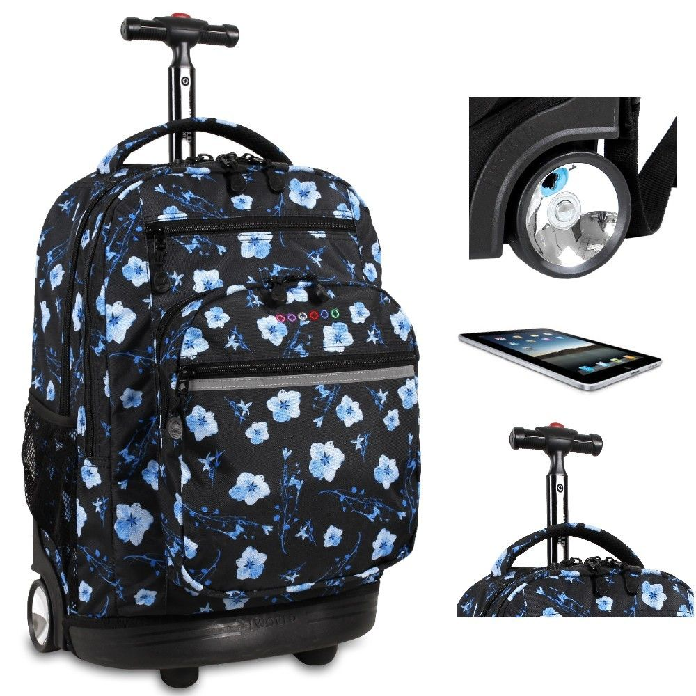 College Flower Rolling Back Pack Laptop Tote S School Wheeled Book Bag 20 Handy And Fun Take The Weight Off Your With This Awesome