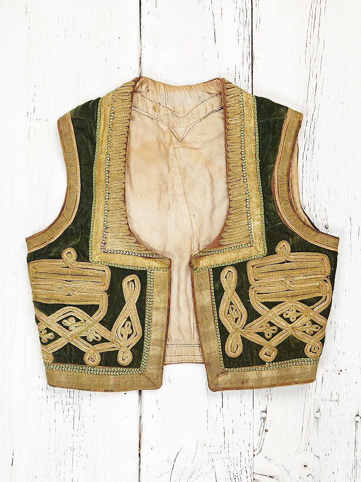 Free People Vintage Embroidered Vest, $368.00