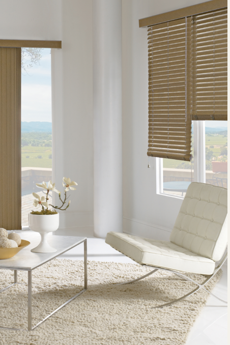 Made With Vinyl And Fabric Vertical Blinds Are Perfect For Patio Doors And Oversized Windows With Plent Large Window Treatments Vertical Blinds Large Windows