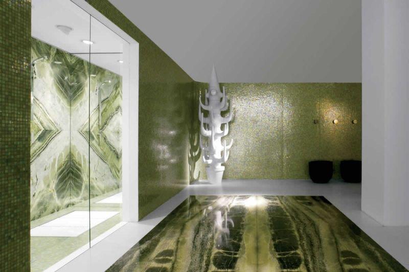 Grüne Bodenfliesen holen ein Stück Natur ins Haus – 36 Designs   Haus
