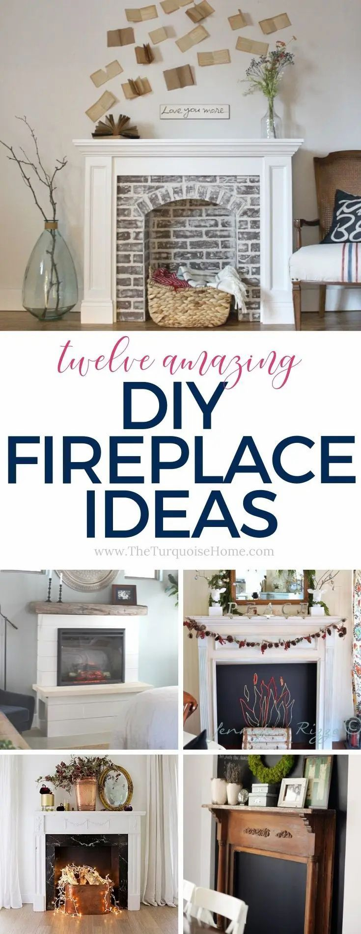12 DIY Faux Fireplace Ideas The Turquoise Home