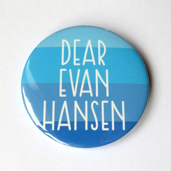 handmade button badge or magnet inspired by dear evan hansen the rh pinterest com
