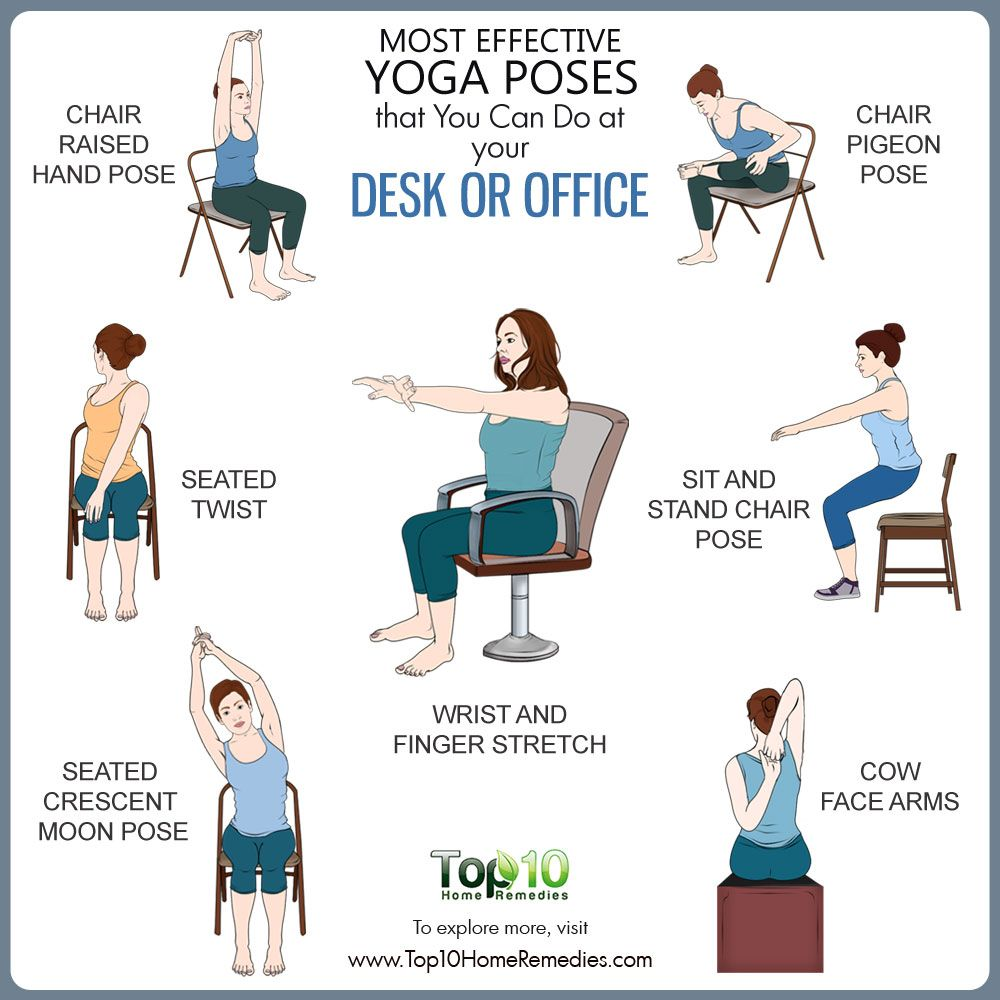 Yoga Poses You Can Do At Your Desk