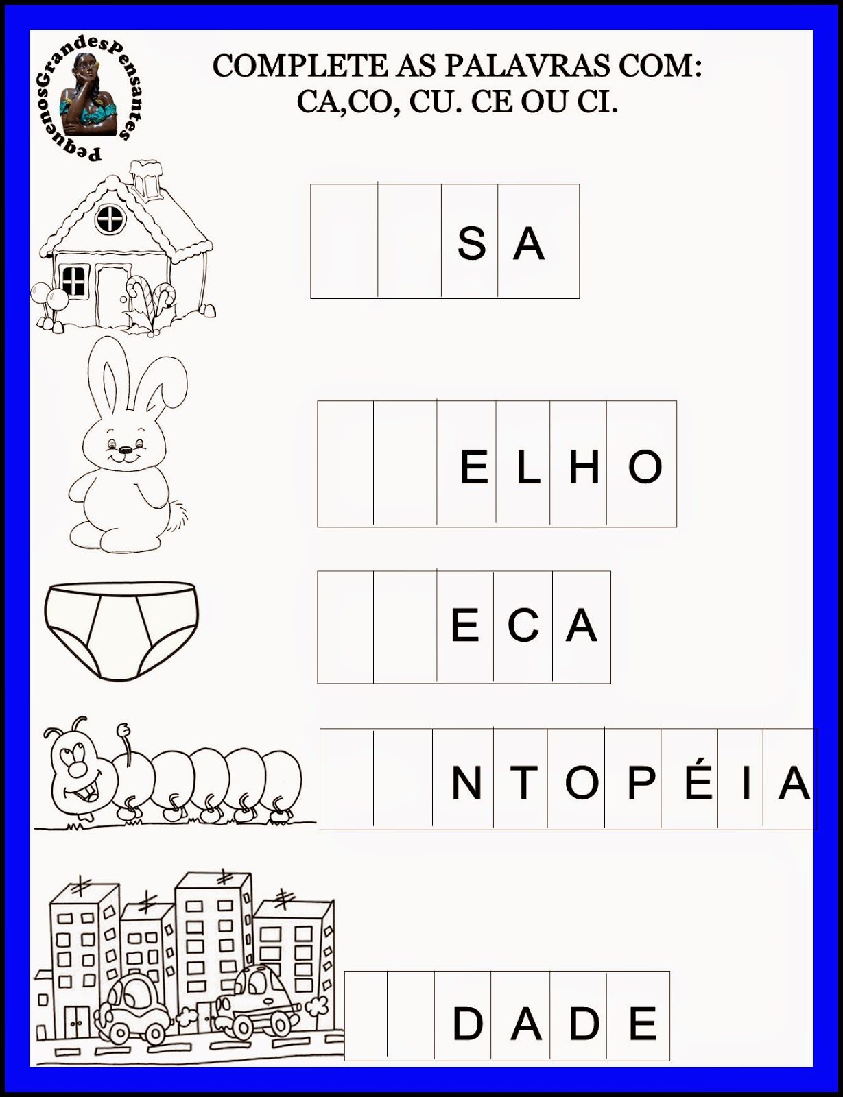 Atividades Inéditas com a letra C | atividades lúdicas | Pinterest ...