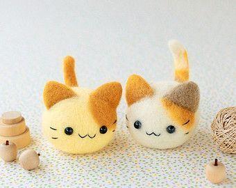 Japanese Needle Wool Felt Mascot DIY Kit - Seal Brothers - Midori Hattori - Hamanaka Kit - Kawaii Felting Kit - Easy Tutorial, F46 #needlefelting