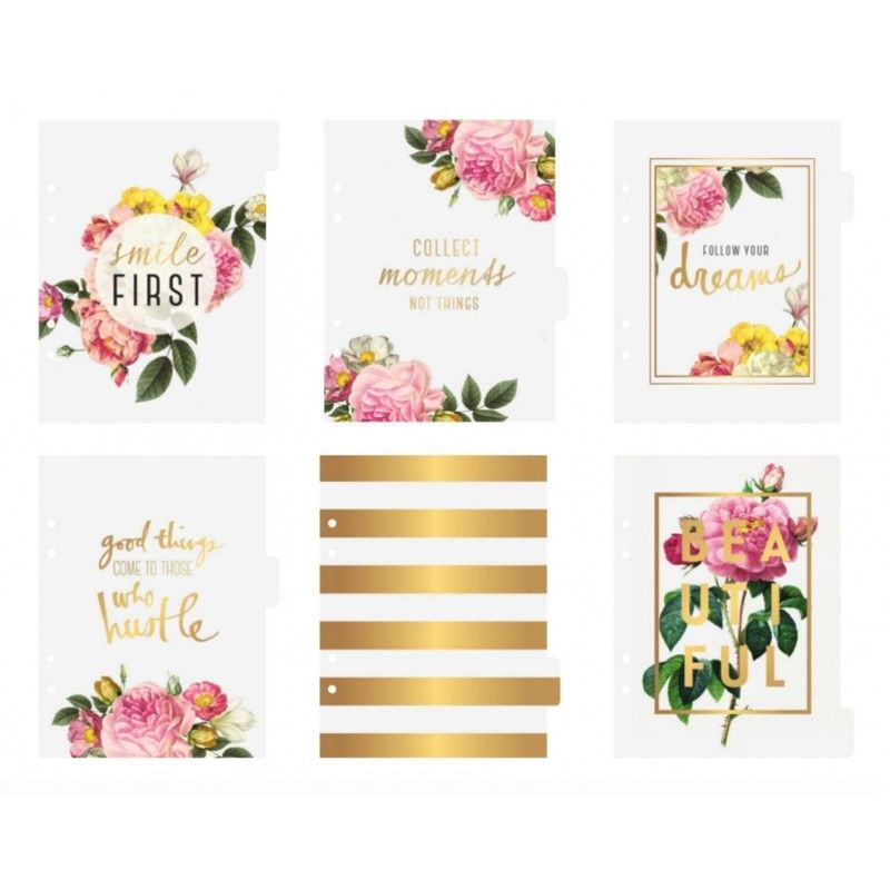 Heidi Swapp Memory Planner Personal Planner A5 Clear Dividers 312593 ...