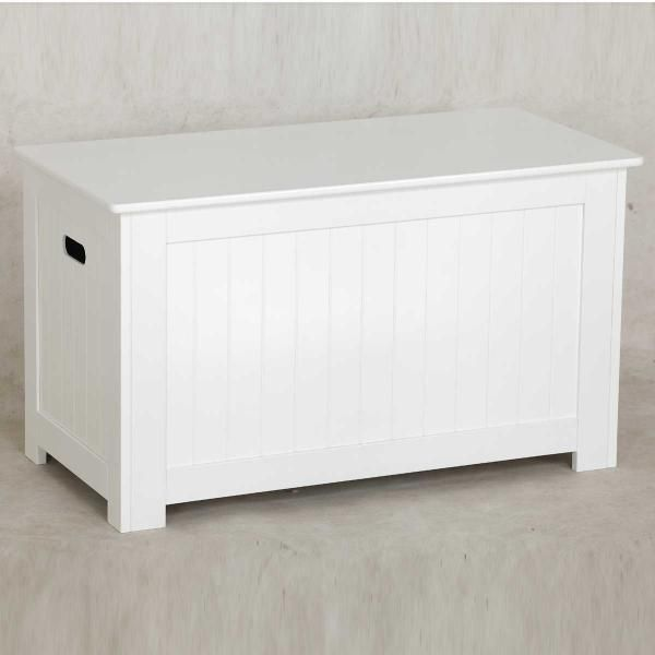 Carre Storage Bench White Main Product Photo