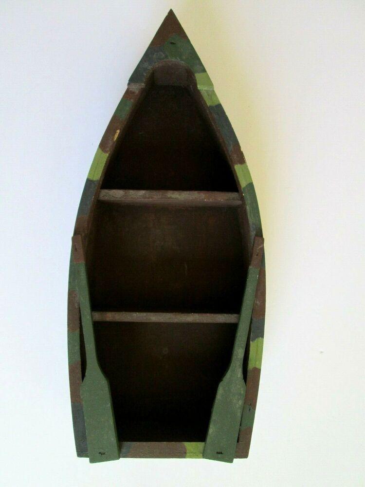 boat shelf camouflage wooden nautical boat display wall shelf 14 rh pinterest com