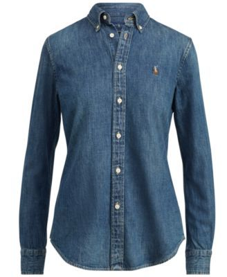 29a6e877cf Polo Ralph Lauren Slim-Fit Denim Shirt - Medium Wash L in 2019 ...
