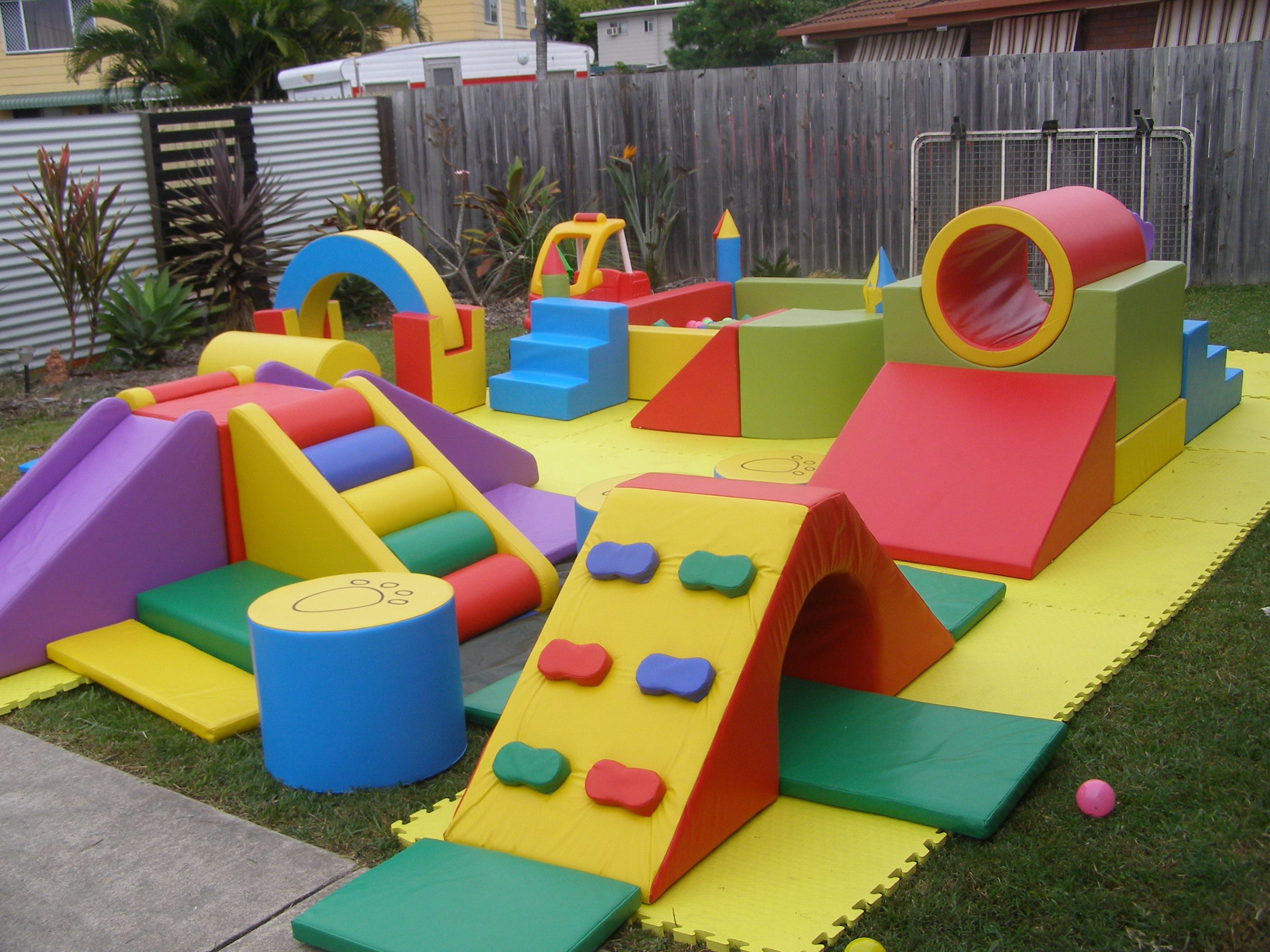 Using cushion to build a playground at