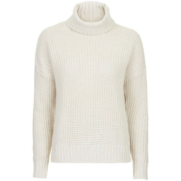 Women's Topshop Chunky Ribbed Turtleneck Sweater ($84) ❤ liked on ...