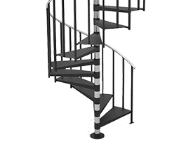 Best Steel Spiral Stair Kit Product Options Paragon Stairs 400 x 300