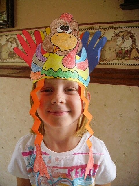 picture about Free Printable Turkey Pattern named turkey headband - cost-free printable behavior well prepared towards shade