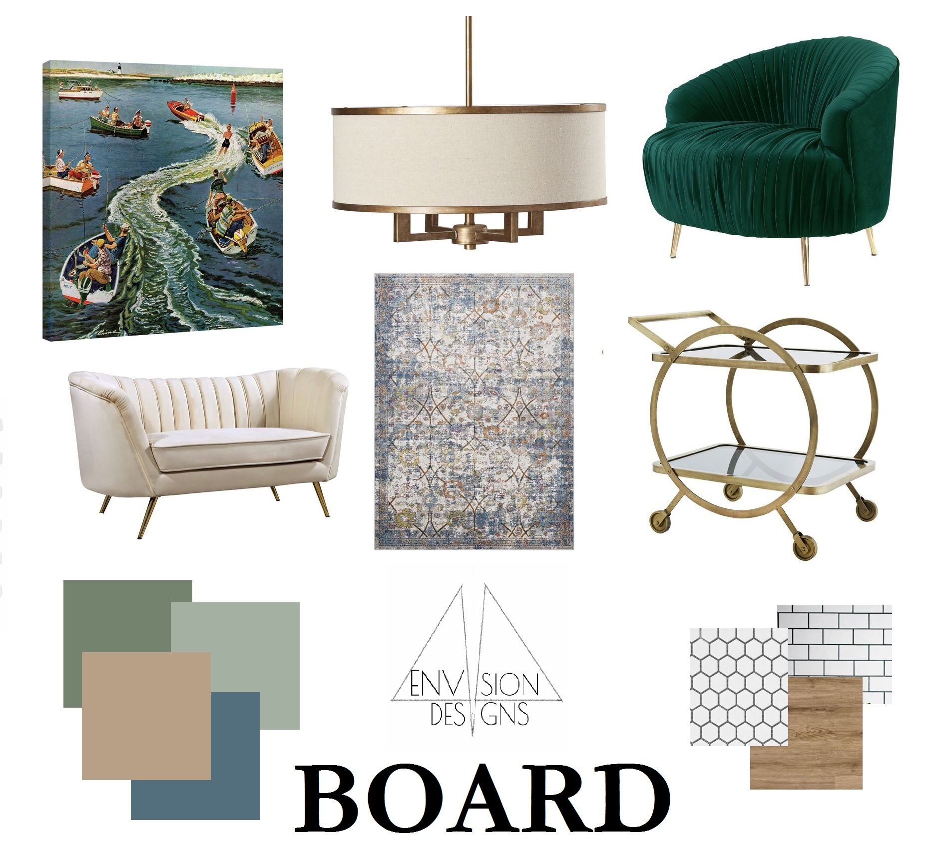 'Summer Of Luxury' Interior Design Vision Board By