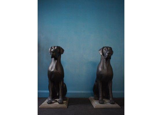 Vintage Life Size Great Dane Statues Set Of 2 Vintage Life