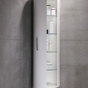 White High Gloss Bathroom Wall Cabinets