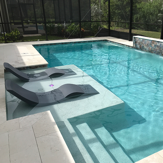Aqua Chairs | In-Pool Chaise Lounge Chair | $499 e