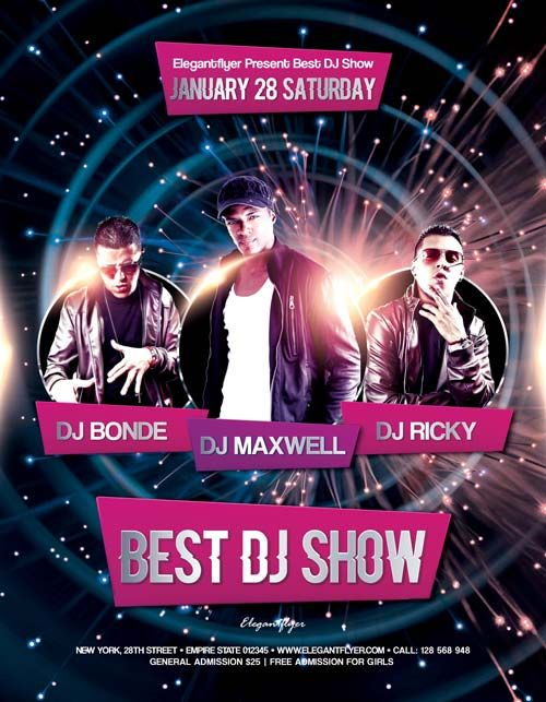 Best Dj Show Free Flyer Template  HttpFreepsdflyerComBestDj